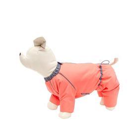 Комбинезон Osso «Снежинка» для собак, сука, размер 28 (ДС 28, ОШ 34, ОГ 46), коралловый