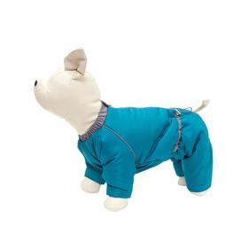 Комбинезон Osso «Снежинка» для собак, кобель, размер 30 (ДС 30, ОШ 36, ОГ 50), изумрудный