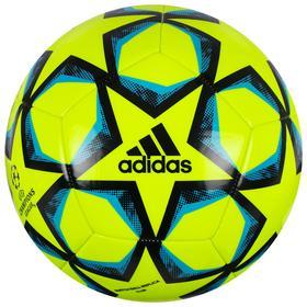Мяч футбольный ADIDAS Finale 20 Club, размер 5, 12 панелей, TПУ, машинная сшивка, цвет жёлтый/синий/чёрный
