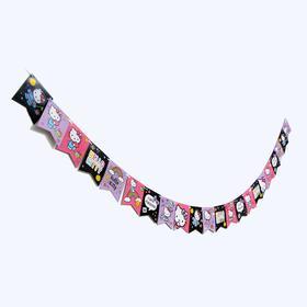 Гирлянда-флажки «С днём рождения», Hello Kitty, 300 см