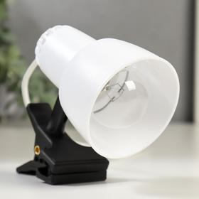 Светильник настольный НТ0-34А 1х40Вт Е14 на прищепке, белый