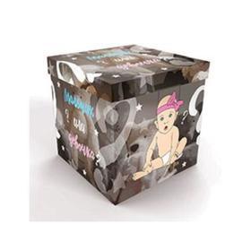 "Box for balloons "" Boy / girl?"", 60x60x60cm, 1 PC."