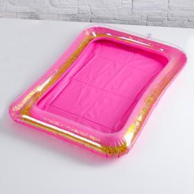 Надувная песочница с блёстками, 60х45 см, цвет ярко-розовый