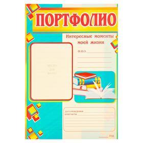 """Комплект оформительский """"Портфолио ученика"""" двухцветный"""