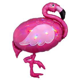 """Шар фольгированный 33"""" «Фламинго перламутр», фигура"""