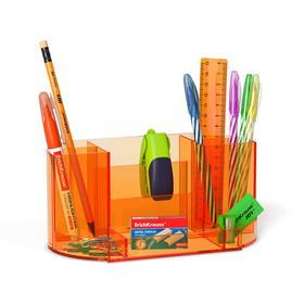 Набор настольный канцелярский 12 предметов ErichKrause Victoria, Neon, оранжевый