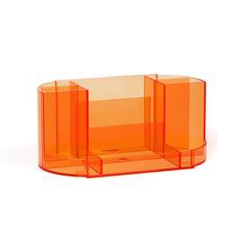 Настольная подставка-органайзер ErichKrause Victoria, Neon, без/наполн, оранжевая 52878