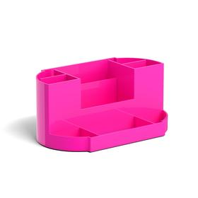 Настольная подставка-органайзер ErichKrause Victoria, Neon Solid, без/наполн, розовая 51485