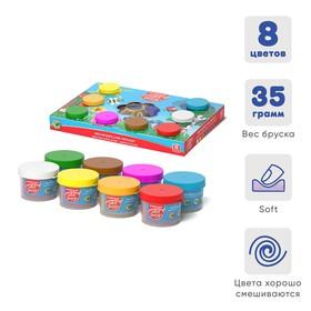 Тесто для лепки 8 цветов, 280 г, ErichKrause, 27 формочек, конструкция-игра по смешиванию цветов и лепки