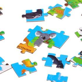 Пазл в металлическом шаре «Карта мира», 54 детали