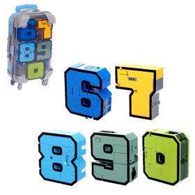 Игровой набор «Робоцифры», трансформируется, в чемодане от 6 до 0