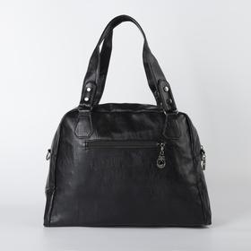 Сумка женская, отдел на молнии, наружный карман, цвет чёрный - фото 51292