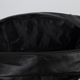 Сумка женская, отдел на молнии, наружный карман, цвет чёрный - фото 51293