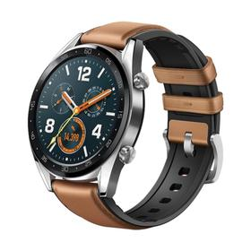 Смарт-часы HUAWEI WATCH GT Brown Hybrid Strap, 46мм, 1.39', Amoled, коричневые Ош