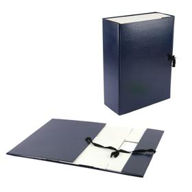 Короб архивный А4 100мм, Calligrata складывающийся, бумвинил, синий
