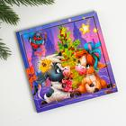 """Puzzle """" Bulls under the Christmas tree"""""""