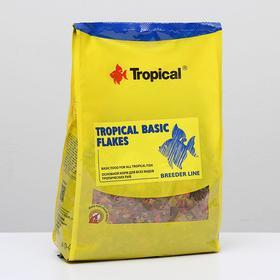 Корм для рыб Tropical Basic Flakes в виде хлопьев, 1 кг