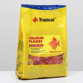 Корм для рыб Colour Flakes для усиления окраски, в виде хлопьев, 1 кг