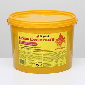 Корм для цихлид Cichlid Colour Pellets для усиления окраски, в виде плавающих гранул, 3,8 кг