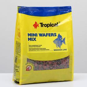 Корм для донных рыб и ракообразных Mini Waffers Mix в виде разноцветных чипсов, 1 кг
