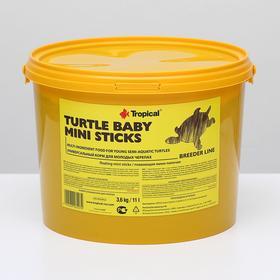 Корм для черепах Turtle Baby Mini Sticks в виде плавающих палочек, 3,6 кг