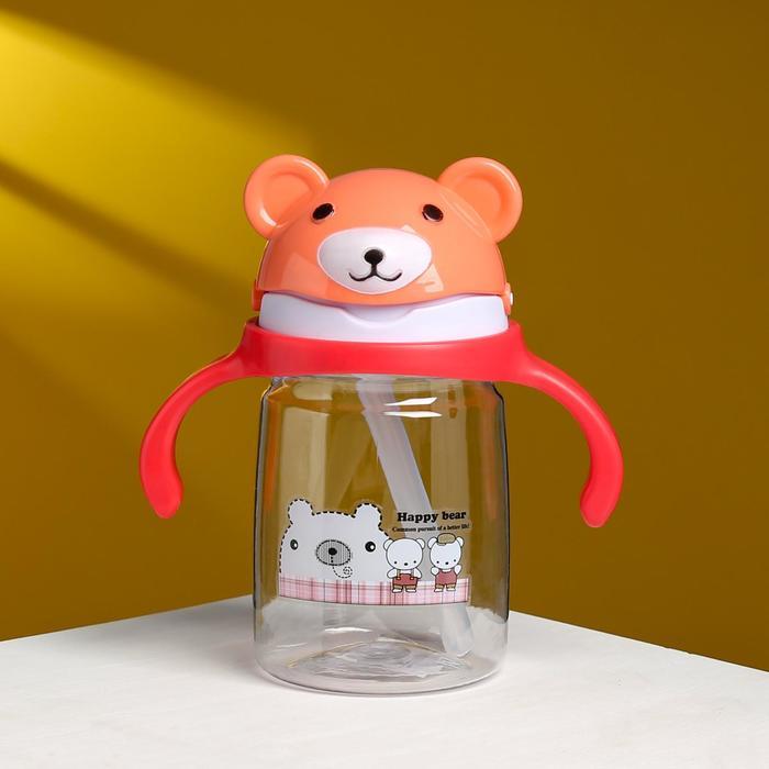 """Бутылка для воды """"Милый мишка"""" 400 мл, микс - фото 669535"""