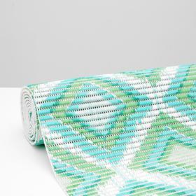Коврик ПВХ «Этно», 0,65×2 м, цвет зелёный Ош