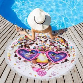 Полотенце пляжное Этель «Модница», d 150см