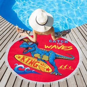 Полотенце пляжное Этель «Поймай волну», d 150см