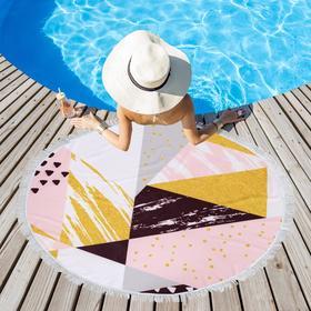 Полотенце пляжное Этель «Геометрия», d 150см