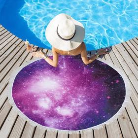 Полотенце пляжное Этель «Космос», d 150см