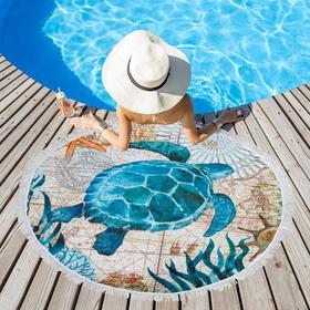 "Beach towel Ethel ""Sea turtle"", d 150 cm, 100% p/e"