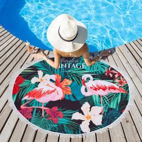 Полотенце пляжное Этель «Винтаж», d 150см
