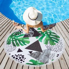 Полотенце пляжное Этель «Тропики», d 150см