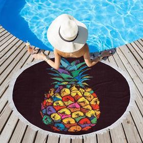 Полотенце пляжное Этель «Райский ананас», d 150см