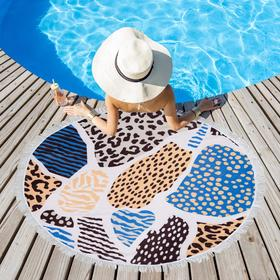 Полотенце пляжное Этель «Леопард», d 150см