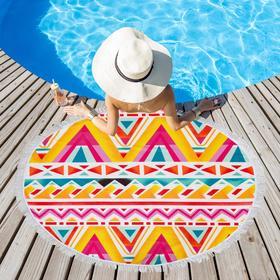 Полотенце пляжное Этель «Краски лета», d 150см