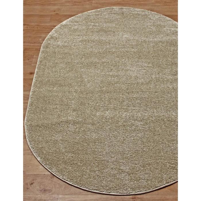 Ковёр овальный Platinum t600, размер 120x180 см, цвет beige - фото 7929431
