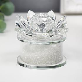 "Souvenir glass ""Flower"" beads 6x8x8 cm"