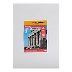 Фотобумага LOMOND для лазерных принтеров, А3, 200 г/м2, 250 листов, двусторонняя, глянцевая