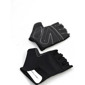 Перчатки для фитнеса унисекс кожаные Q12, цвет чёрный, размерM