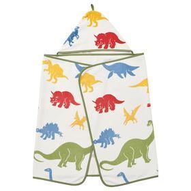Полотенце с капюшоном ЙЭТТЕЛИК, 140x70 см, динозавр/разноцветный