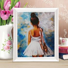 """Painting on canvas """"Young ballerina"""" by numbers with paints of 3 ml+ brushes+fasteners 30*40"""