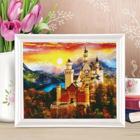 "Painting on canvas ""Castle at sunset"" by numbers with paints of 3 ml+ brushes+fasteners 30*40"