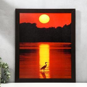 "Poster MDF ""Sunset"" 40x50 cm, wenge"