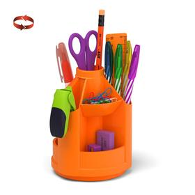 Набор настольный на вращающейся подставке 13 предметов ErichKrause Mini Desk, Neon Solid, оранжевый