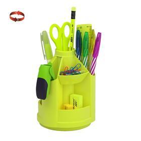 Набор настольный на вращающейся подставке 13 предметов ErichKrause® Mini Desk, Neon Solid, желтый