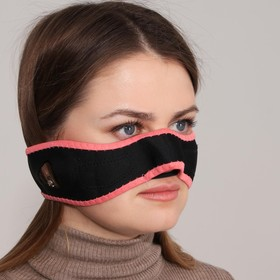 Mask d / correction and lifting of cheekbones textile with Velcro black / rose package