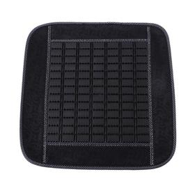 Torso seat massager Cape, 123 x 47 cm, plastic inserts, black