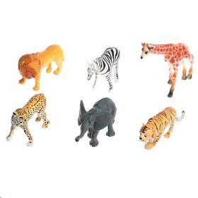 Набор животных «Звери Африки», 6 фигурок